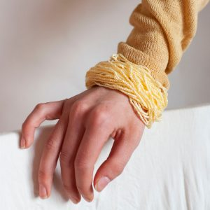 Vanillegelbes Armband elegant Armschmuck