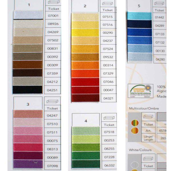 Halsschmuck Farbpalette