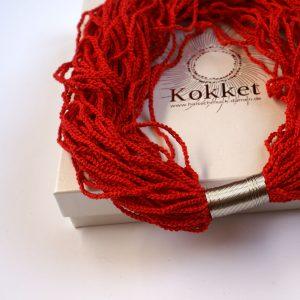 Rotes Collier für extravagante Frauen