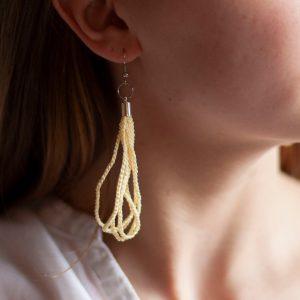 Ohrhänger umweltbewusst vanillegelb Ohrschmuck