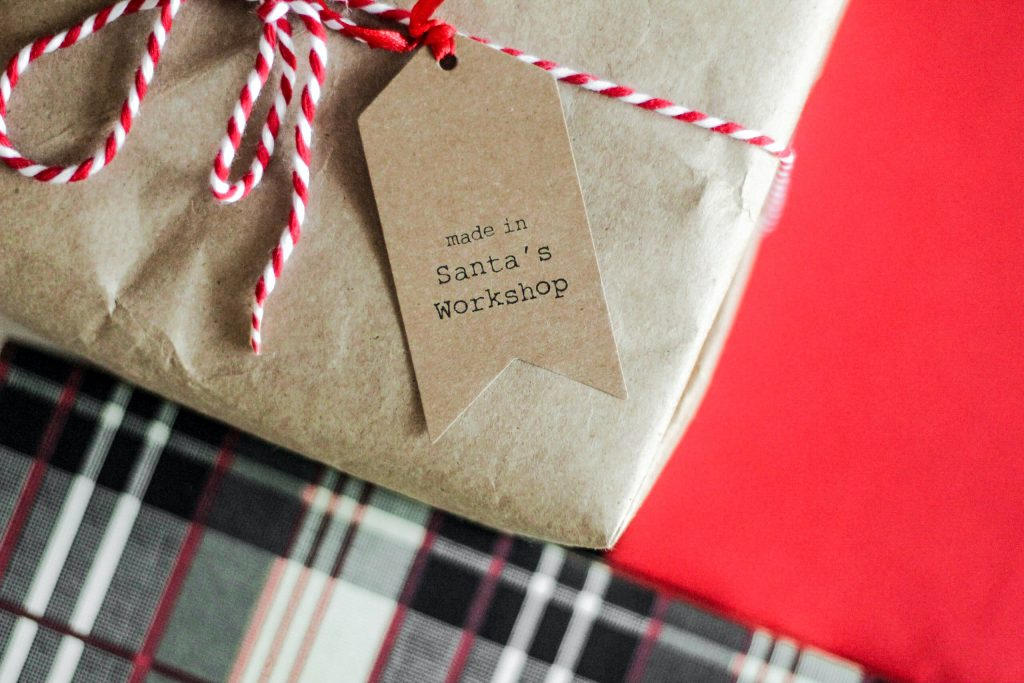 Weihnachtsgeschenk selber nähen. Recycling Upcycling